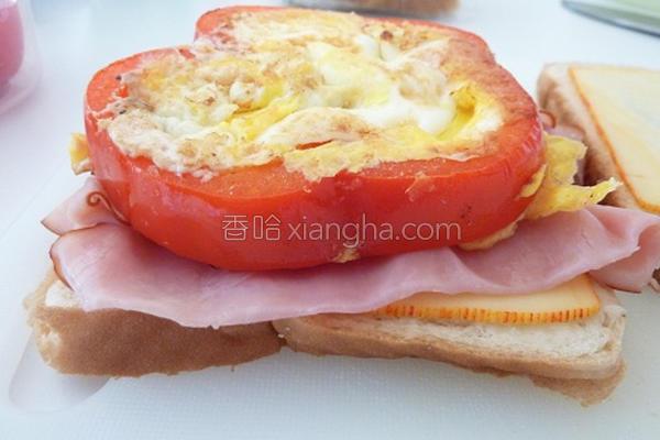 红椒蛋三明治的做法