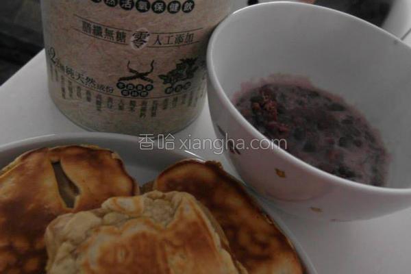 香煎年糕佐红豆泥的做法