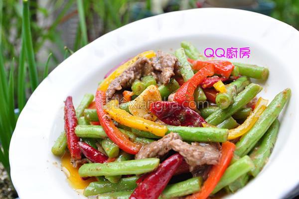 彩椒牛肉片炒时蔬的做法