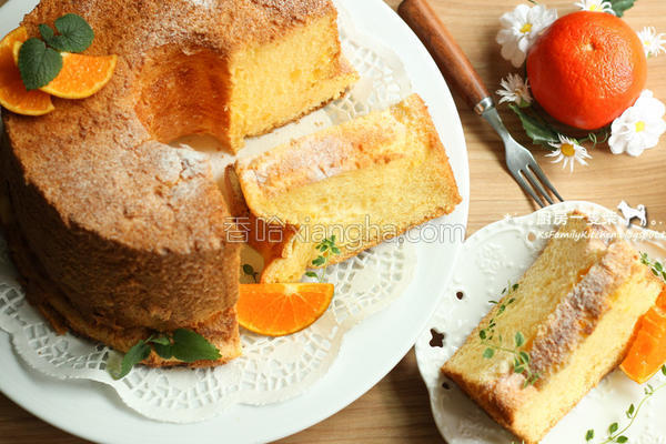 无油橘香戚风蛋糕的做法