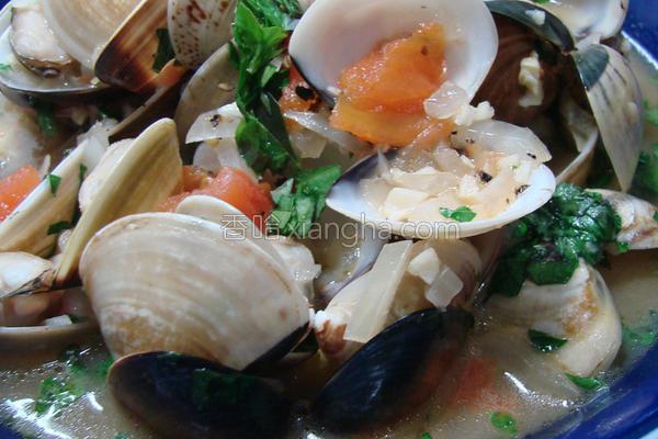 白酒煮蛤蜊的做法