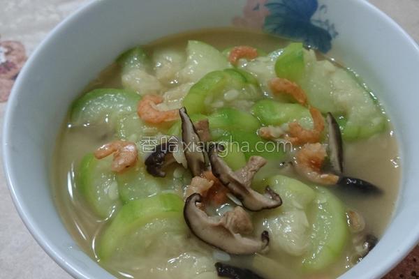 香菇虾米丝瓜的做法
