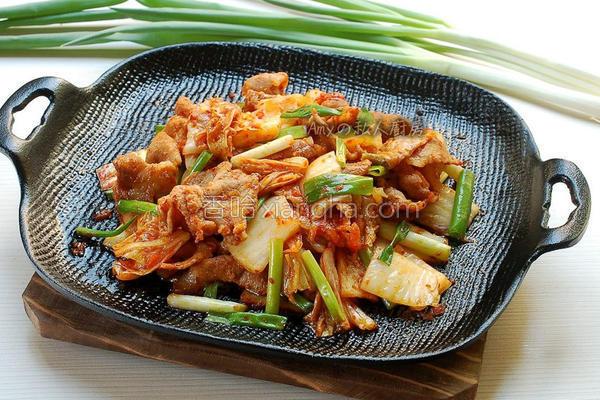 韩式泡菜猪肉的做法