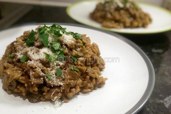 意式蘑菇炖饭的做法