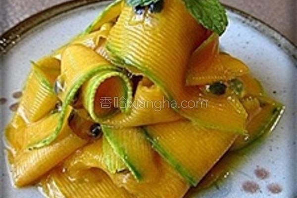 百香南瓜片的做法