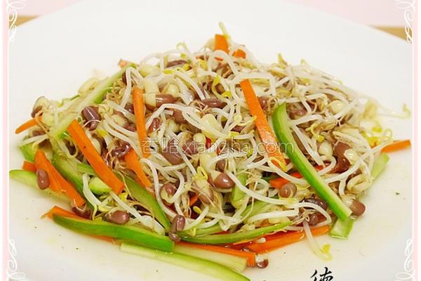 红豆芽炒三丝的做法