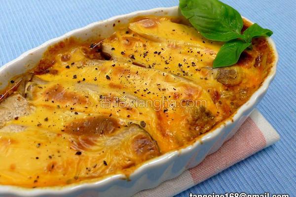 杏鲍菇层层焗烤的做法