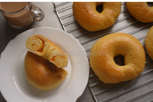 地瓜乳酪贝果的做法