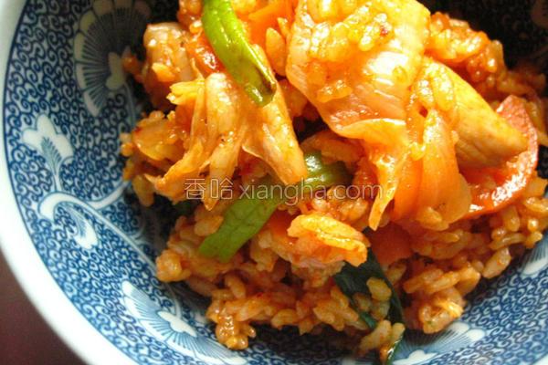 春川辣鸡泡菜炒饭的做法