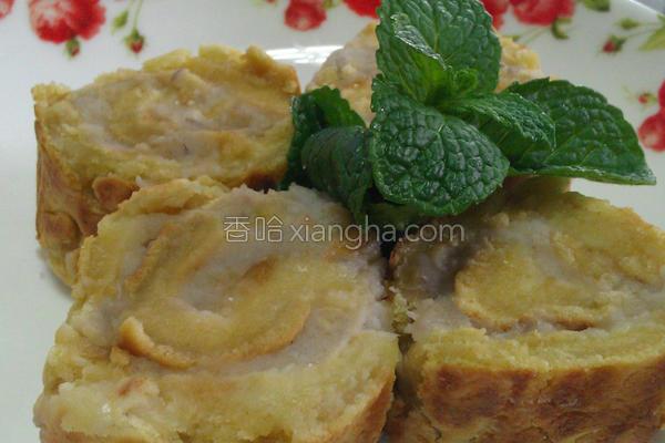 凤梨芋泥乳酪卷的做法