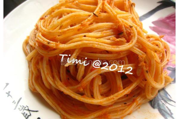 番茄鲔鱼意大利面的做法