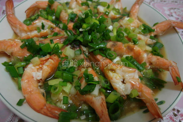 蒜泥蒸虾的做法