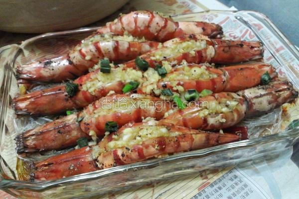 椒盐蒜蓉焗虾的做法