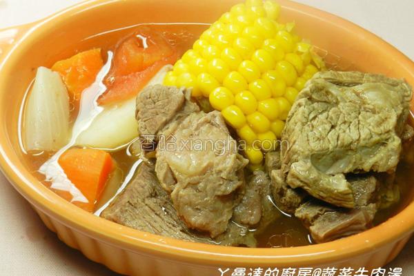 蔬菜牛肉汤的做法