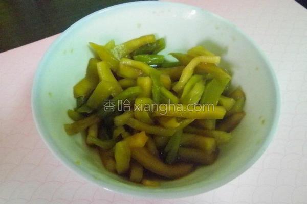 腌绿花椰菜心的做法