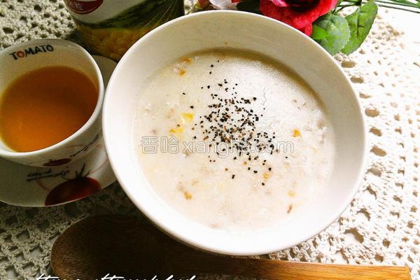 鸡蓉玉米浓汤的做法