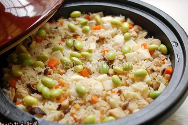 竹笋嫩鸡炊饭的做法