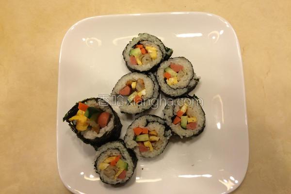 韩国紫菜饭卷的做法