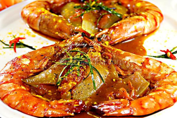 咖哩番茄虾的做法