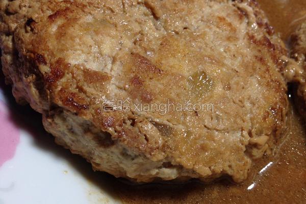 风豆腐汉堡排的做法