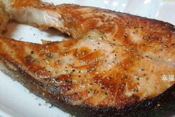 干煎鲑鱼的做法