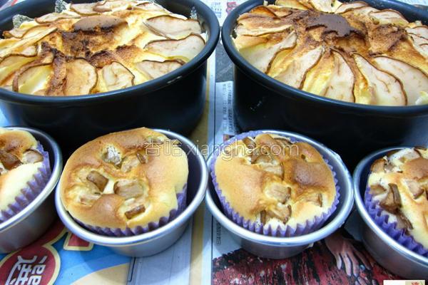 西洋梨轻乳酪蛋糕的做法