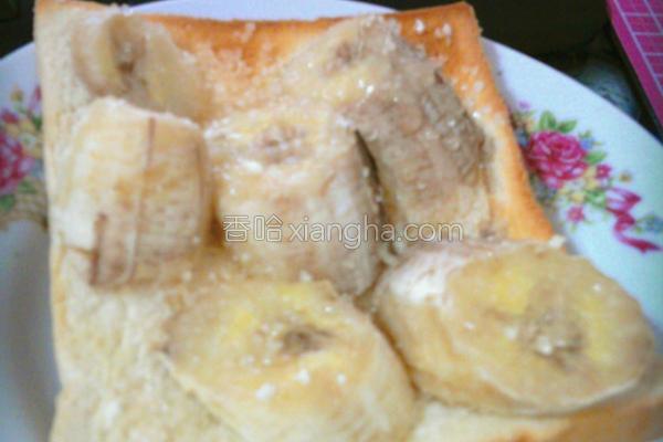 懒人香蕉土司的做法