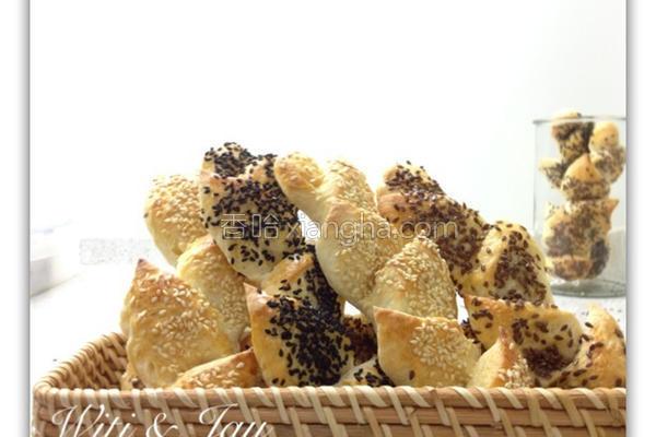 芝麻麦穗面包的做法