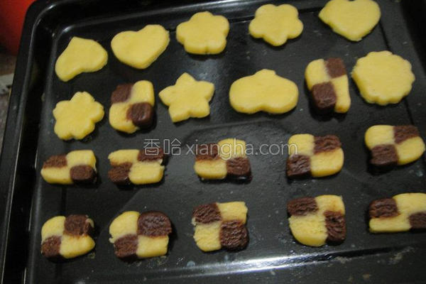 格子饼干的做法