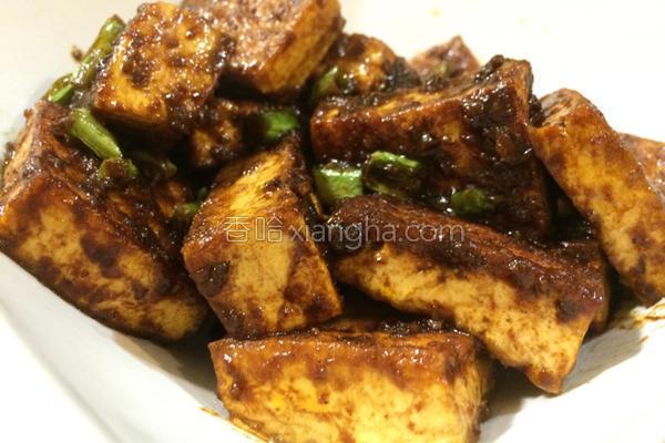 炸酱干烧板豆腐的做法
