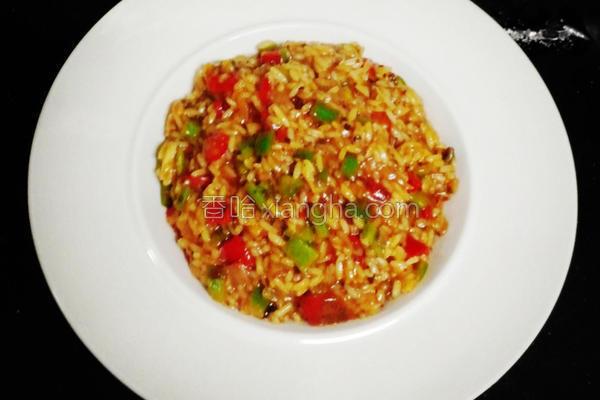 随意炒番茄炖饭的做法