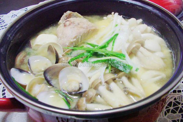 味噌海鲜菇菇锅的做法