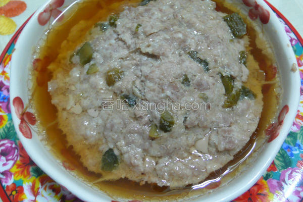 蒸盐麹瓜仔肉的做法