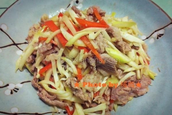 桔香筊白笋炒肉丝的做法