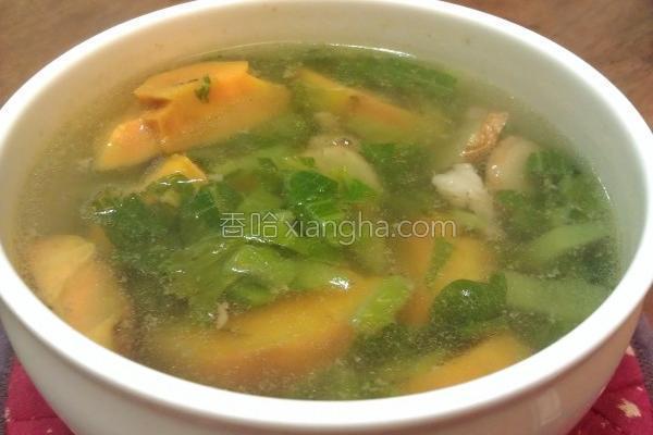 芥菜地瓜肉丝汤的做法