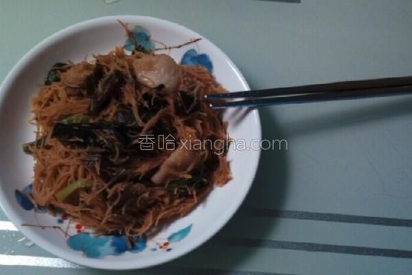 韭菜炒米粉的做法