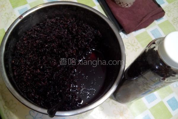 黑米甜酒酿的做法