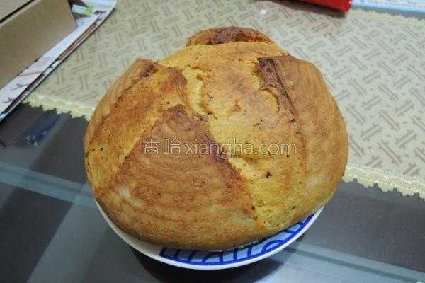 红枣枸杞养生面包的做法