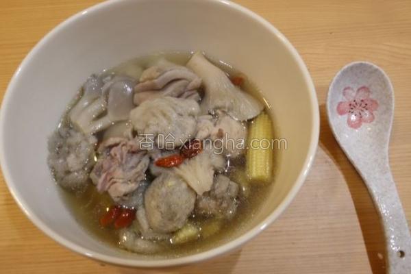 双菇鸡汤的做法