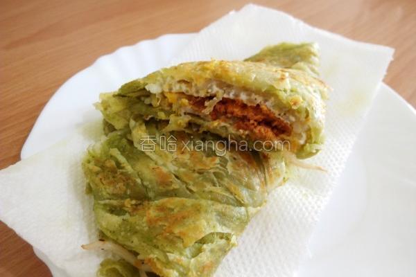 香煎鲔鱼松葱抓饼的做法