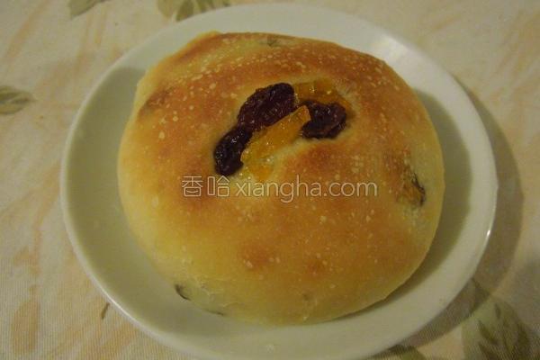 葡萄金桔面包的做法