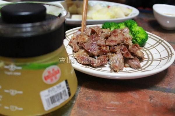 蒜香煎猪肉的做法