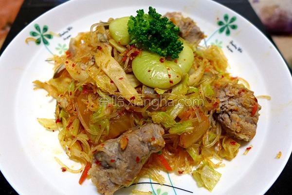 韩式泡菜炒冬粉的做法