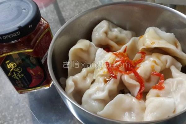 水饺佐鬼椒辣椒酱的做法