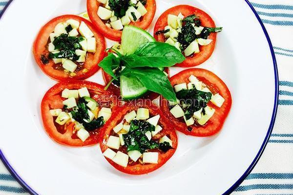 意式番茄乳酪拼盘的做法