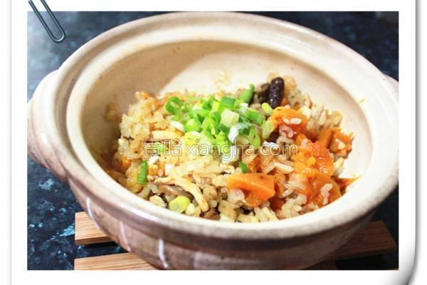 南瓜鸡肉炖饭的做法