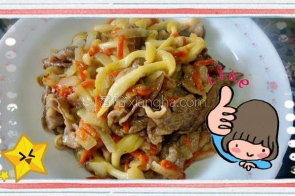 味噌菇菇牛肉烧的做法