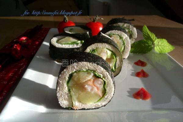 虾土司寿司的做法