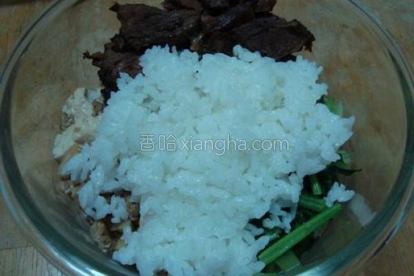 便当菜配白米饭的做法