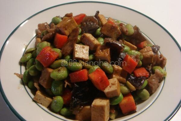沙茶豆干炒毛豆的做法